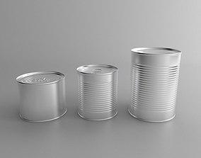 tin cans set 3D
