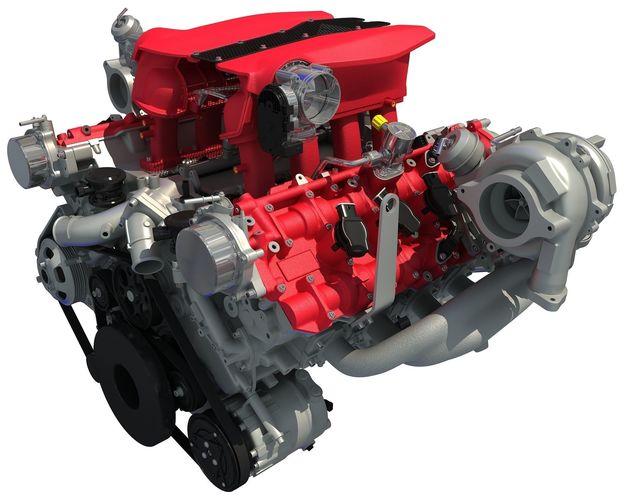 3d model turbocharged v8 engine cgtrader. Black Bedroom Furniture Sets. Home Design Ideas