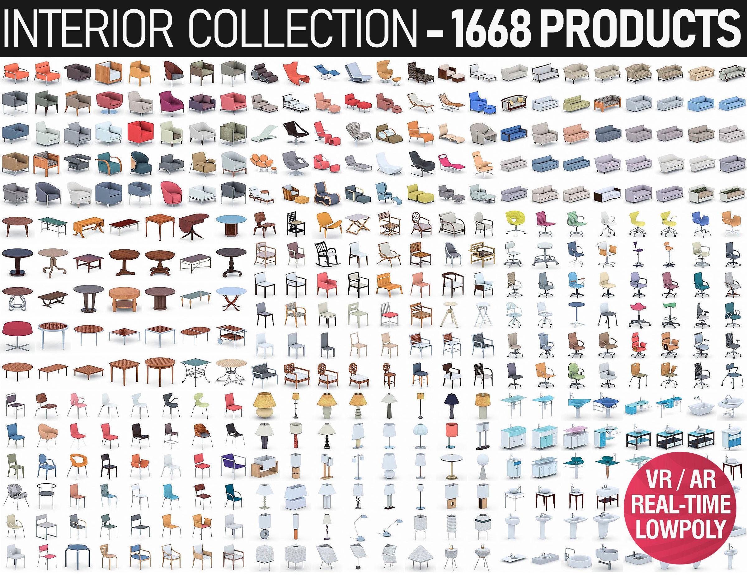 Interior Furniture Collection - 1668 MEGAPACK