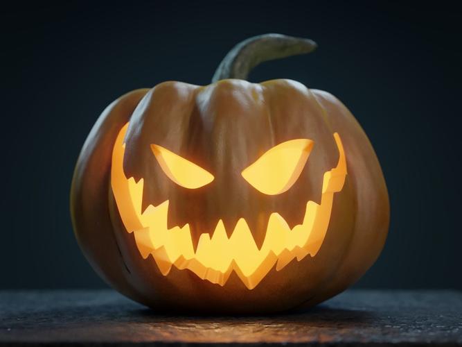 halloween pumpkin jack o lantern 3d evil cgtrader