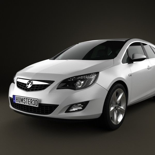 Vauxhall Astra Hatchback 5-door 2011 3D Model MAX OBJ 3DS