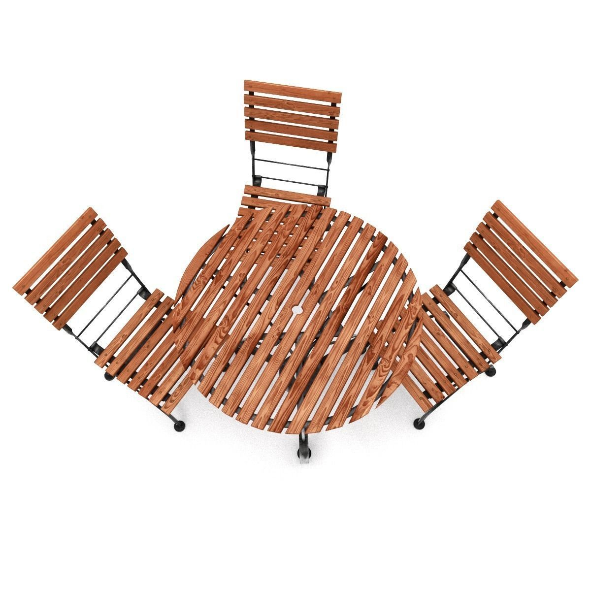 garden furniture set 3d model obj fbx blend 2 - Garden Furniture Top View