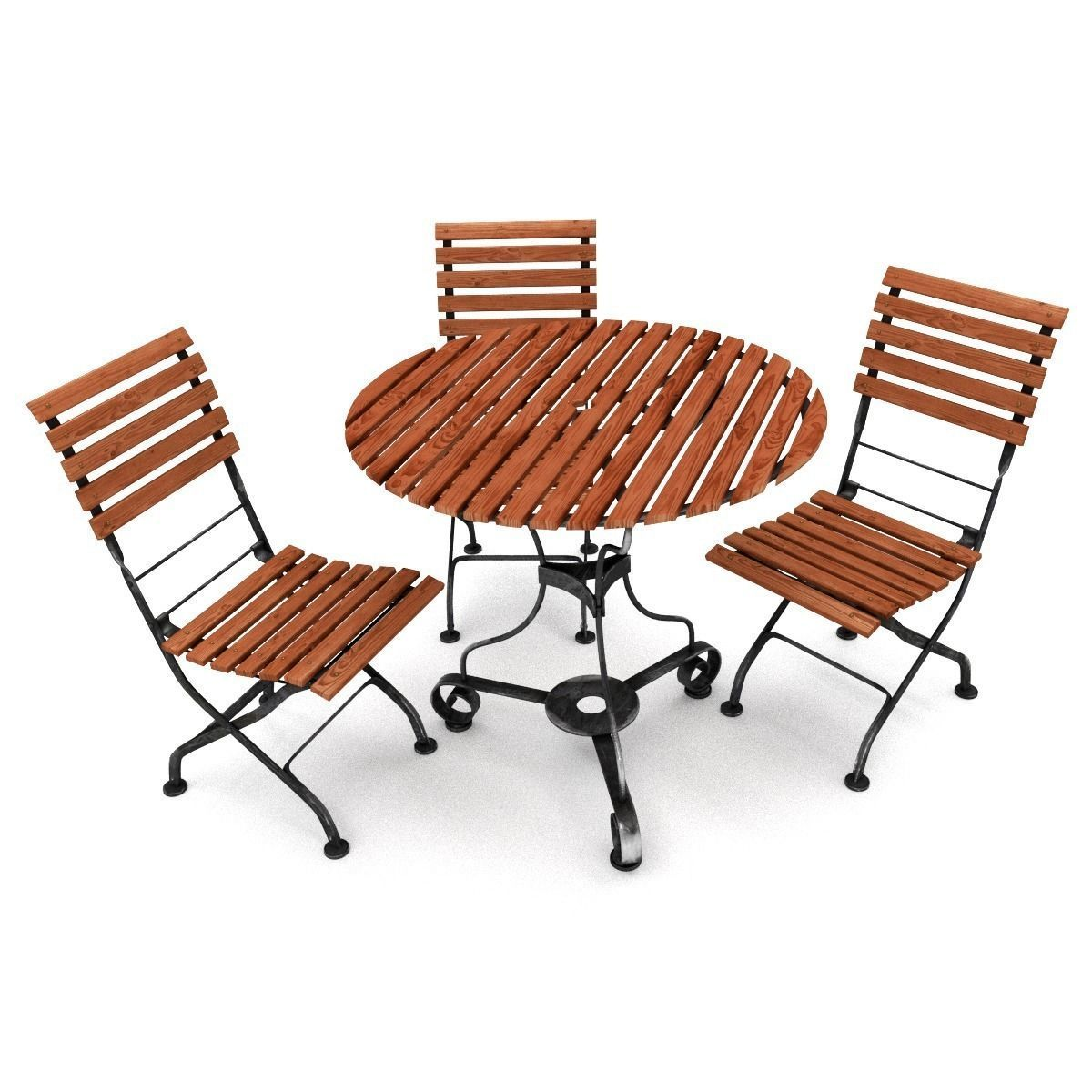 garden furniture set 3d model obj fbx blend 1 - Garden Furniture 3d Model