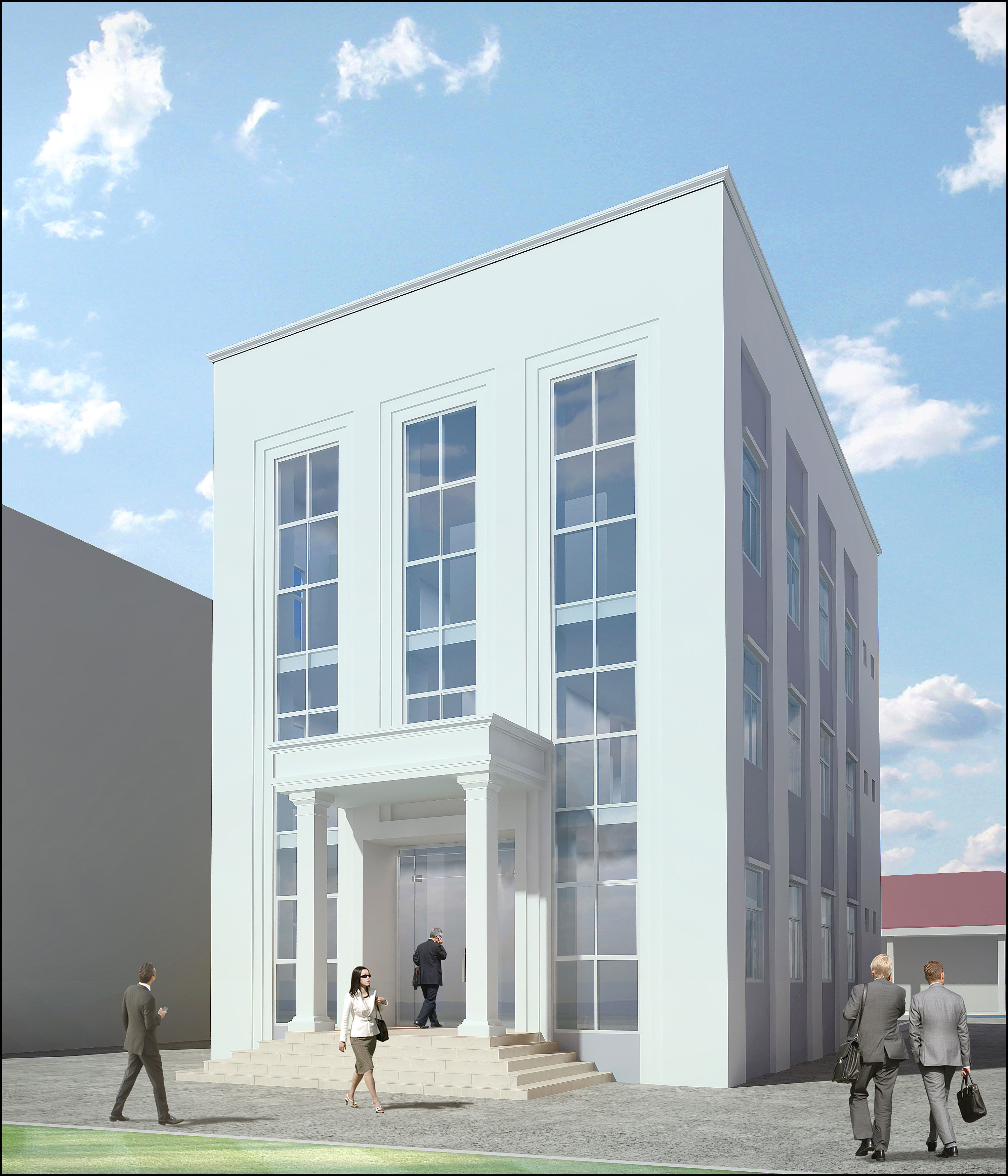 small office building designs inspiration small urban. Small Office Building Design. Neoclassical 3d Model Max Obj 3ds Fbx 2 Designs Inspiration Urban