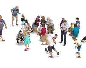 People Park Collection x20 3D model
