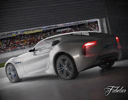 Maserati Alfieri garage 3D Model