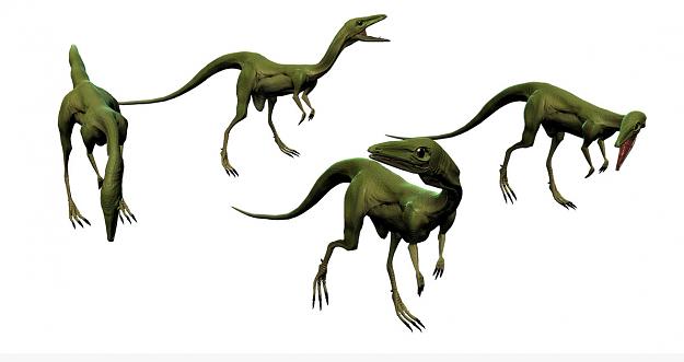 compsognathus 3d model obj mtl fbx ma mb 1