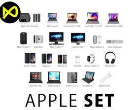 Apple Complete Set 2017 3D