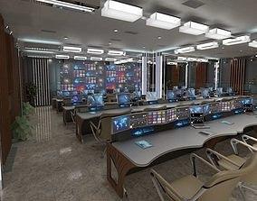 TV Studio Control Room 1 3D