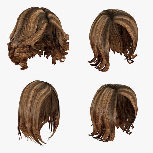 Female Hairstyle Hair Pack 3d Model Cgtrader