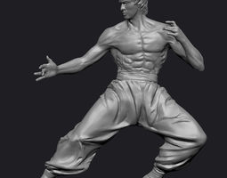3D model Bruce Lee Statue Zbrush