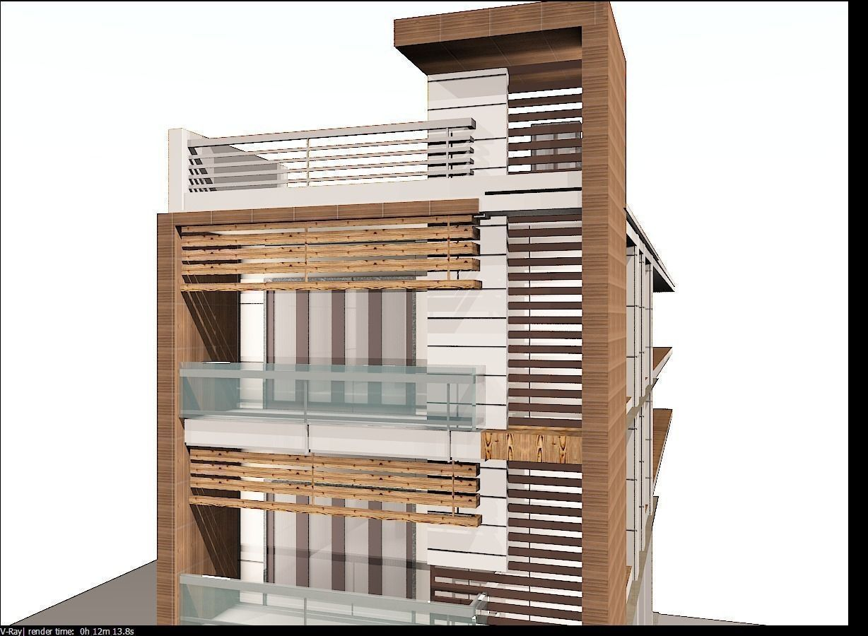 Architectural elevation 3d model max for House elevation models