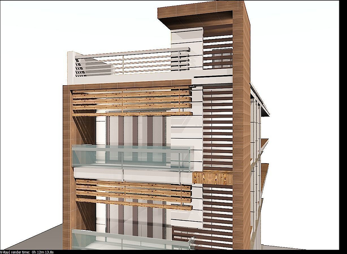 Architectural elevation 3d model max for Simple house elevation models
