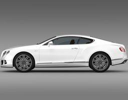 3D model Bentley Continental GT Speed 2014