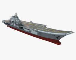 3d model chinese liaoning aircraft carrier