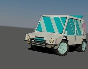 3D asset Teen Titans GO -T car
