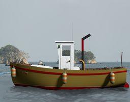 3D model River vessel