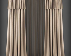 Curtain 3D model 300 realtime
