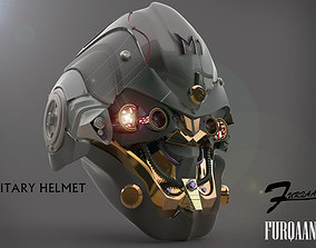sci-fi military robot helmet 3D model
