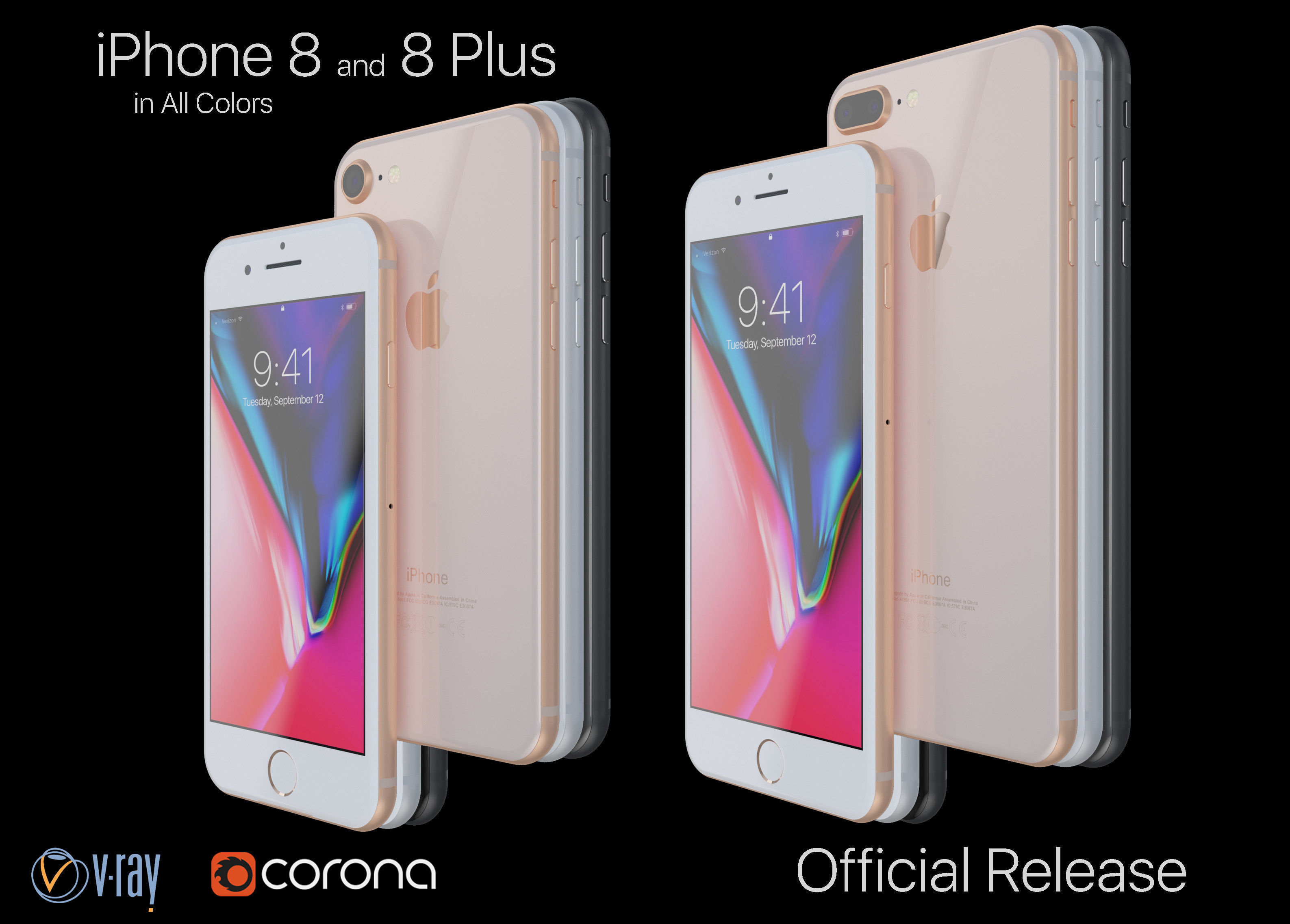 Apple iPhone 8 and 8 Plus Collection in All Color Official