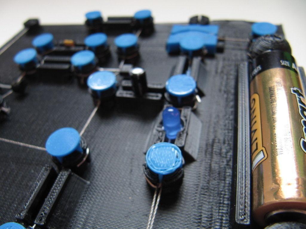 3d Printed Circuit Board V0 2 Cgtrader Print Model Stl