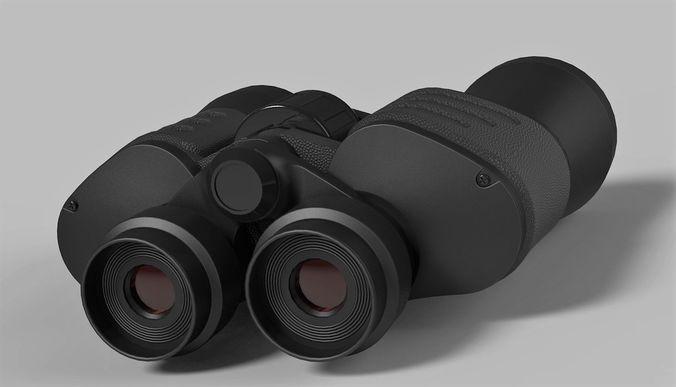 binoculars 3d model low-poly max obj mtl 3ds fbx 1