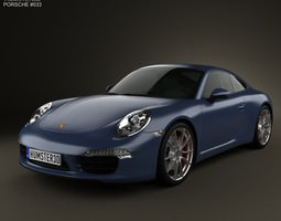 3d porsche 911 carrera s coupe 2012
