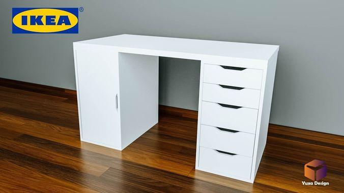 Ikea Alex Desk 3d Cgtrader
