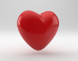 heart shape 3d model obj 3ds fbx blend dae