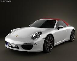 3D model Porsche 911 Carrera S Cabriolet 2012