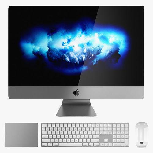 apple imac pro set 1 - office mac 3d model max obj mtl 3ds fbx c4d lwo lw lws 1