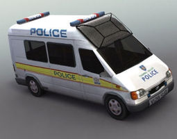 Police Carrier Transport 3D Model