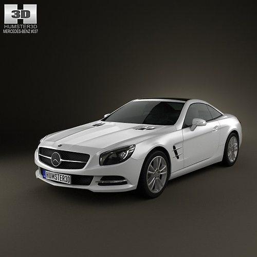 Mercedes benz sl class 2012 3d model cgtrader for Mercedes benz 2012 models