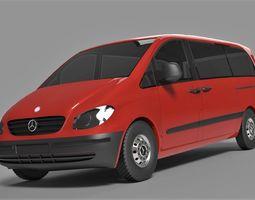 3D model Mercedes Vito Long Van