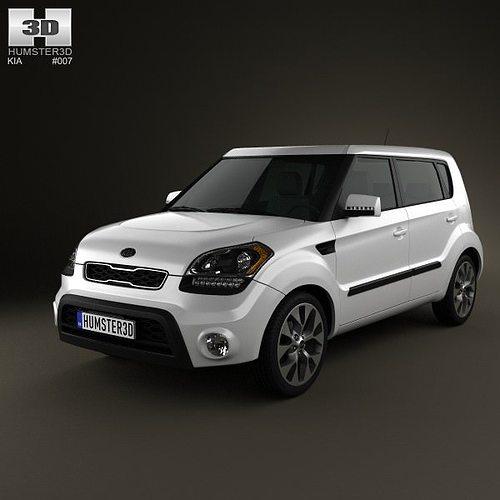 2012 Kia Soul Exterior: Kia Soul 2012 3D Model