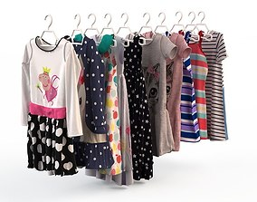 3D model Baby Girl Clothes dress set