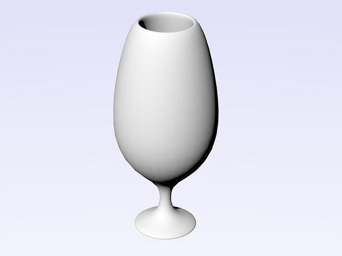wineglass 3d print model 2014 3d model stl 1