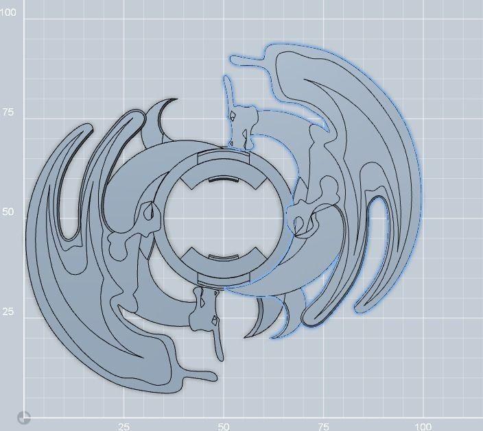Charizard Beyblade 2x Free 3D Model 3D Printable STL