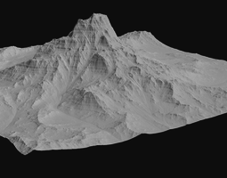 VR-AR-MR and High Quality Mountain 1 3D asset low-poly