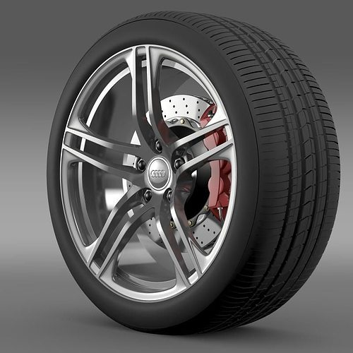audi r8 gt wheel 3d model max obj mtl 3ds fbx c4d lwo lw lws 1