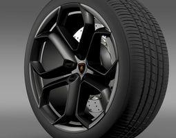 lamborghini aventador wheel 3d