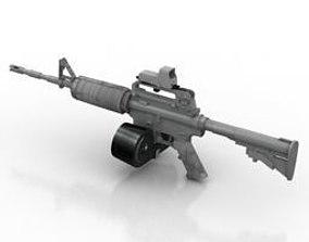 3D asset M1A1 gun