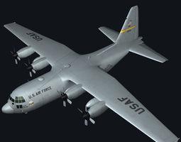 C130 Hercules Military Transport Plane 3D model