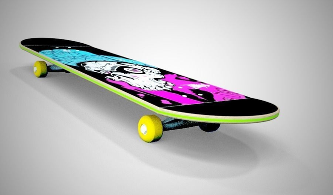 Extreme 3d model skateboard cgtrader - Skateboard mobel ...
