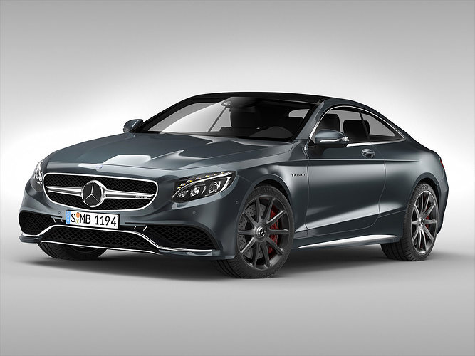 3d mercedes benz s63 amg coupe 2015 cgtrader for Mercedes benz coupes list