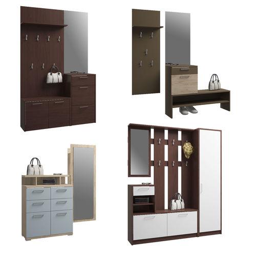 set of hallway furniture 3d model max obj fbx mtl 1