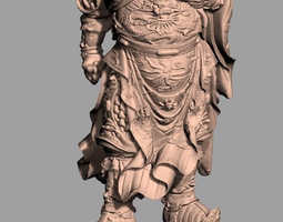 3D Chinese Sculpture Model Guangong Guanyu 019