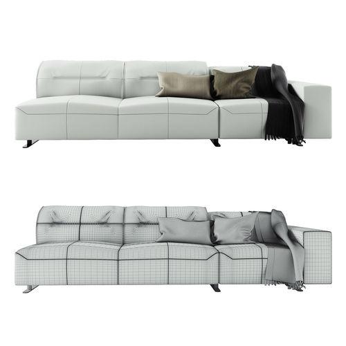 ... Boconcept Hampton Sofa In Leather 3d Model Max Obj Fbx Mtl 3 ...