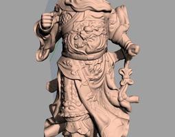 Chinese Sculpture Model Guangong Guanyu 021