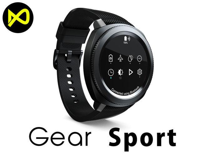 3d Model Samsung Gear Sport Smartwatch Black Cgtrader